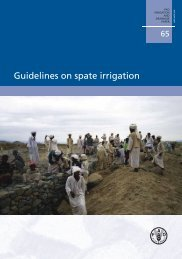 Guidelines on spate irrigation • FAO, 2010 - Hydrology.nl