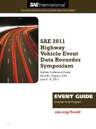 SAE 2011 Highway Vehicle Event Data Recorder Symposium