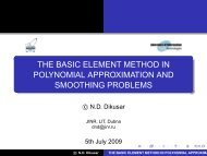 THE BASIC ELEMENT METHOD IN POLYNOMIAL ... - MMCP'2009