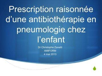 Prescription raisonnée d'une antibiothérapie en pneumologie chez l ...