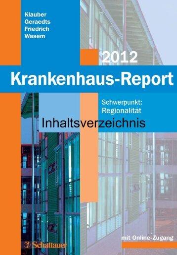 Krankenhaus-Report 2012 – Inhaltsverzeichnis - WIdO