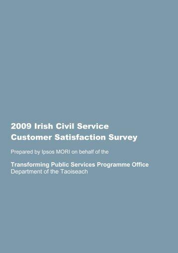 2009 Irish Civil Service Customer Satisfaction Survey