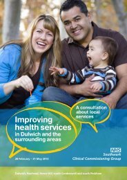 Improving Health Services in Dulwich and the ... - NHS Southwark