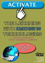 the learning with emerging technologies - School Library ...