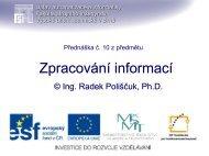 prezentace - Ústav automatizace a informatiky - Vysoké učení ...