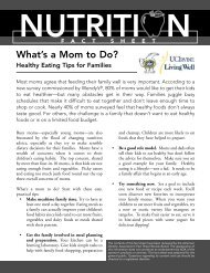 healhty eating tips for families - Wellness