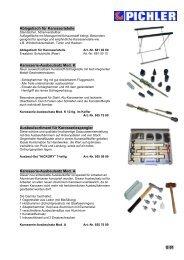 Karosserie-Ausbeulsatz Mod. K - bei PICHLER WERKZEUG