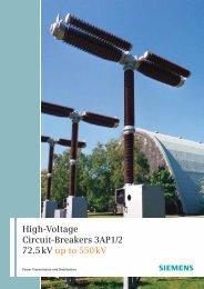High-Voltage Circuit-Breakers 3AP1/2 72.5 kV up to 550 kV - Siemens