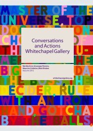 Conversations and Actions Whitechapel Gallery