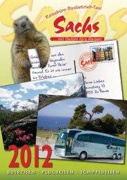 2012 - Reisebüro - Busbetrieb Sachs