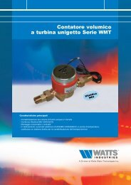 Contatore volumico a turbina unigetto Serie WMT - WATTS industries