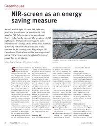 NIR-screen as an energy saving measure - Wageningen UR