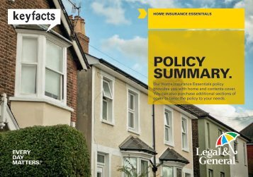 Essentials home insurance policy summary - Legal & General