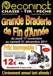 Catalogue 2011 Braderie Deconinck Ultimate Fishing - Team 94