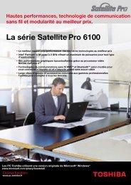 La série Satellite Pro 6100 - Toshiba