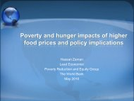Poverty and Hunger Impacts of Higher Food Prices and Policy ...