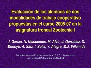 presentación - ETSI Agronomos - Universidad Politécnica de Madrid
