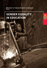 "Gender equality in education"". Ministry Of Foreign Affairs, Denmark ..."