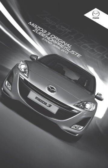 Zubehörprospekt Mazda 3 Typ BL - Autohaus Vollmari GmbH