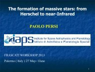 12.30 Paolo PERSI Massive Star Formation - Frascati Workshop 2013
