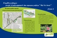 projet d'aménagement des espaces publics