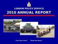 2010 ANNUAL REPORT - London Police Service