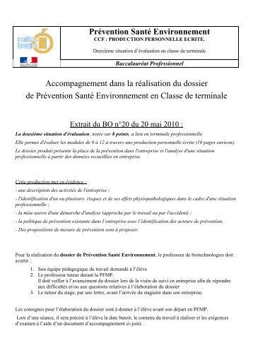 Prévention Santé Environnement Accompagnement dans ... - SBSSA
