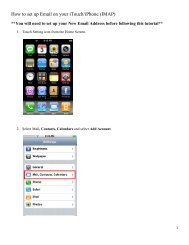 How to set up Email on your iTouch/iPhone (IMAP)