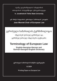 Terminology of European Law - Jmc - Tbilisi State University