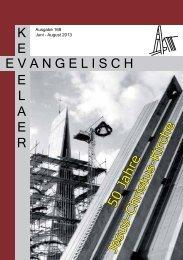 Gemeindebrief 168 - Evangelische Kirchengemeinde Kevelaer
