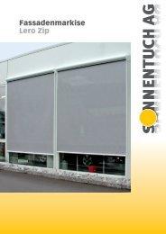 Fassadenmarkise Lero Zip - Sonnentuch AG