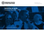 Corporate Plan 06-10 A4 version.pmd - Ambulance Service of NSW ...