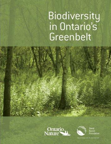 Biodiversity in Ontario's Greenbelt (PDF) - David Suzuki Foundation