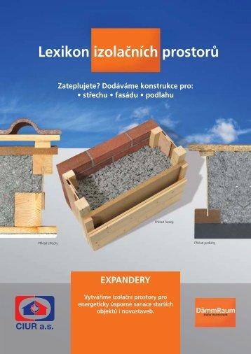 EXPANDERY - stavebnice pro dodatečná zateplení - katalog