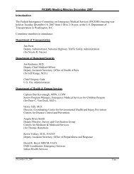 FICEMS Meeting Minutes December 2007 ... - NHTSA EMS