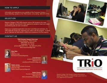TRiO SSS Brochure - Navarro College