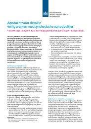 Veilig werken met synthetische nanodeeltjes ... - Inspectie SZW
