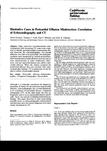 Illustrative Cases in Pericardial Effusion Misdetection