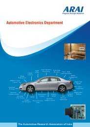 View Brochure - The Automotive Research Association of India