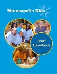 MK Staff Handbook 2007.indd - Minneapolis Kids