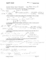 Worksheet 5 – Solutions, Electrolytes and Concentration