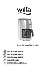 Steel line coffee maker - Wilfa
