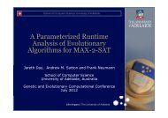 A Parameterized Runtime Analysis of Evolutionary Algorithms for ...