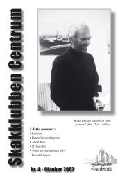 Klubblad nr. 4/2007 - Skakklubben Centrum