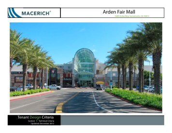 Arden Fair Technical Criteria - Macerich