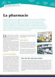 La pharmacie - Centre Hospitalier Territorial