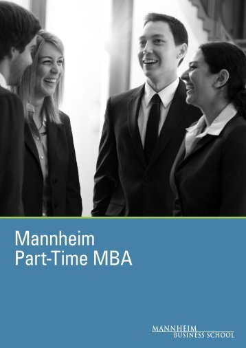 Mannheim Part Time MBA Brochure - Mannheim MBA