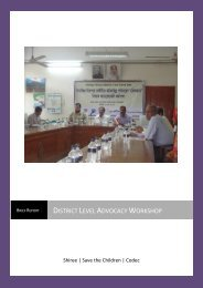 Bagerhat District Level Advocacy Workshop Report - Shiree