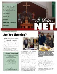 Are You Listening? - Saint Peter's Catholic Church