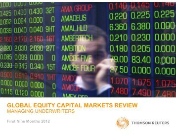 global equity capital markets review - Thomson Reuters Deal ...